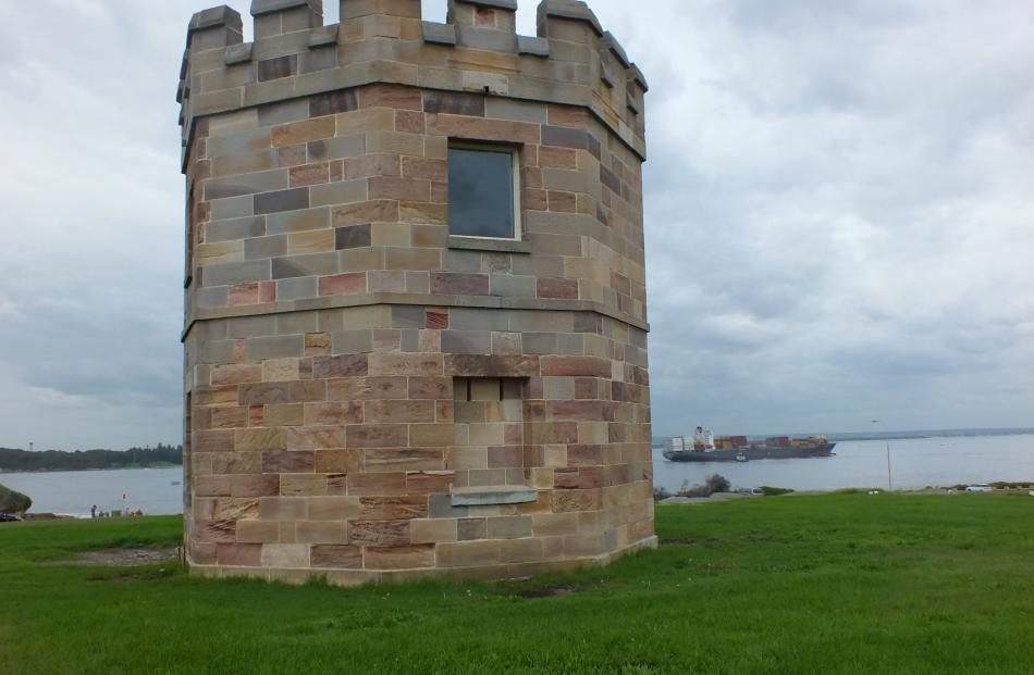 La Perouse's Barrack Tower was used by soldiers on the lookout for smugglers.