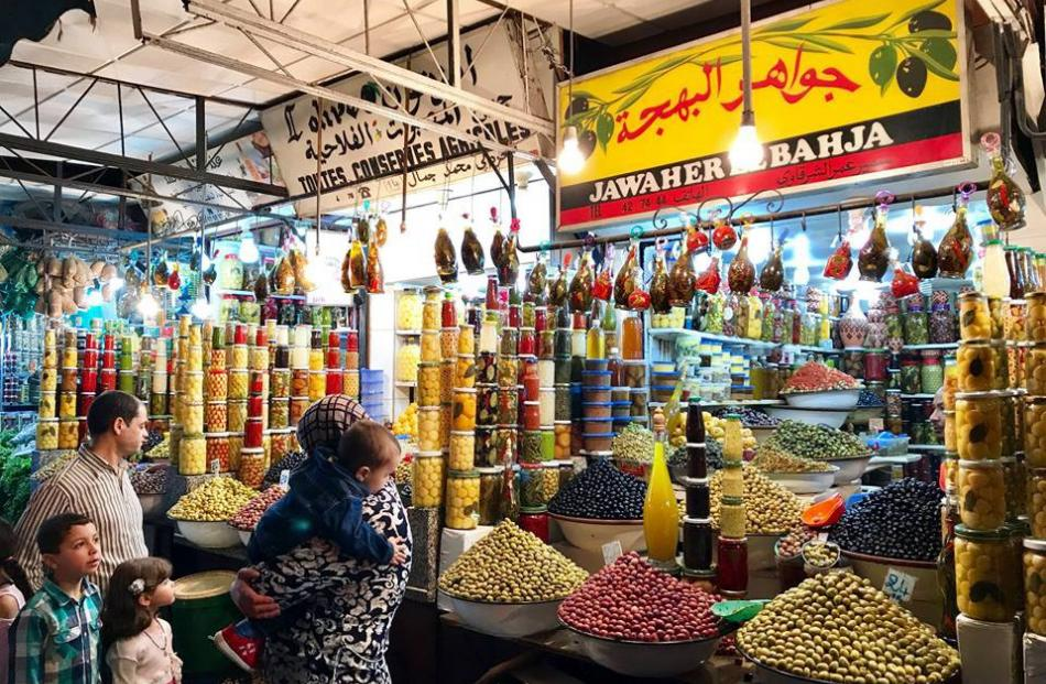 Spice markets in Morocco