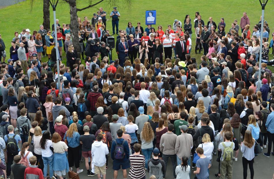 Jacinda Ardern at the University of Otago. Photo: Gerard O'Brien