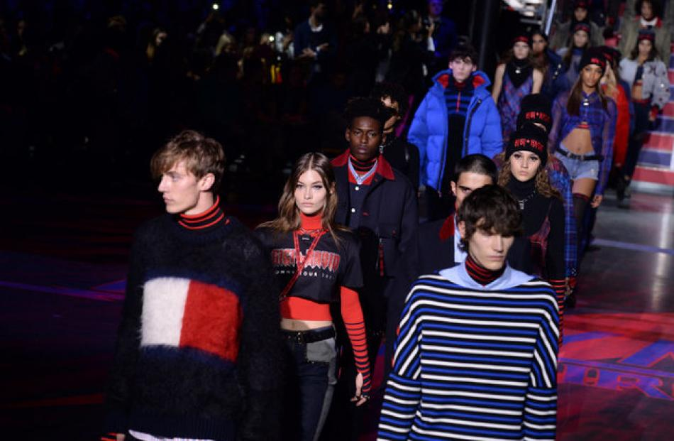 """The collection was a rock and grunge-infused take on the traditional """"preppy"""" styles. Photo: Reuters"""