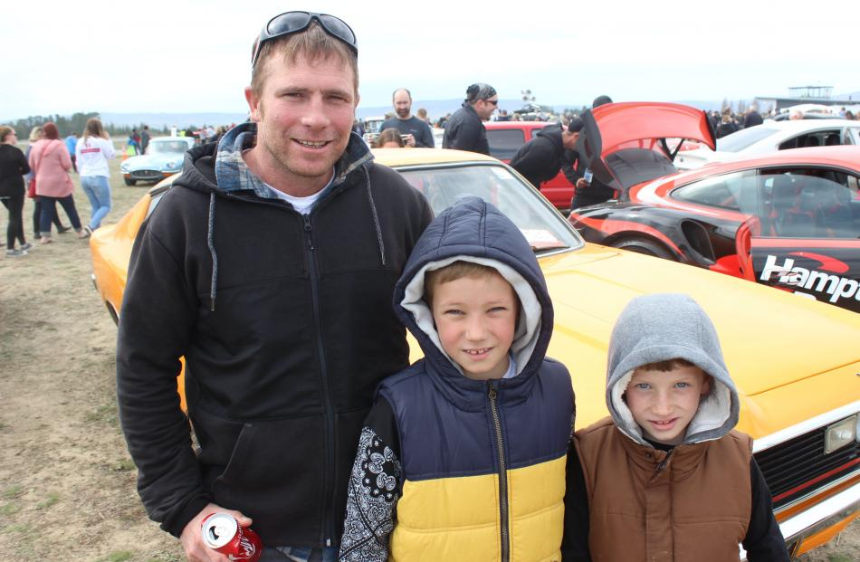 Taylor Chapman, of Alexandra, and Carter (10) and Mason (8) Milne, both of Invercargill.