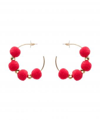 Pom Pom earrings @Sportsgirl