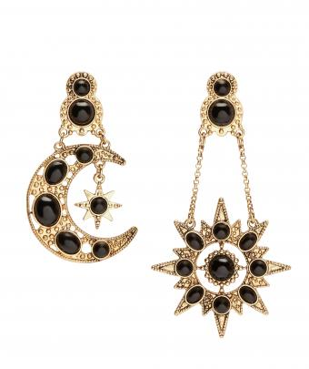 Star and moon earrings @Sportsgirl