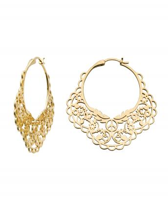 Filigree hoops @Karen Walker