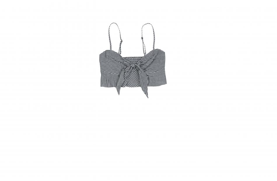 Subtitled-Lola-Gingham-Bow-Top $49.95