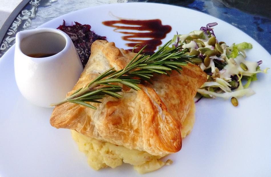 The innovator: Faigan's Cafe and Store Speight's venison and kumara pie.