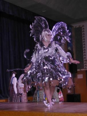 Silver Tink, made by Julie Morton, of Cromwell, and modelled by her daughter Kylie, won the ''Wow...