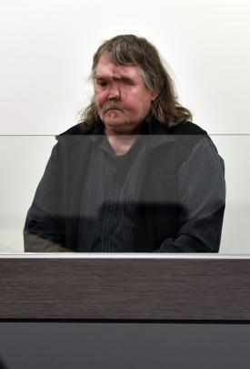 Stephen Findlay during his appearance in the High Court at Dunedin yesterday.