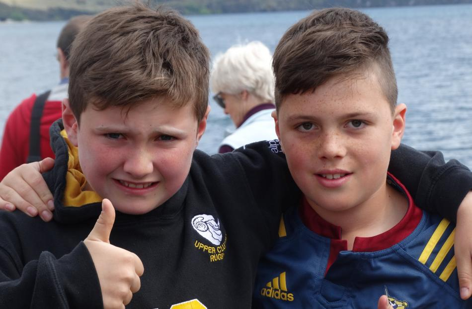 Max Byrne (10) and Cody Gemmell (10), both of Wanaka.