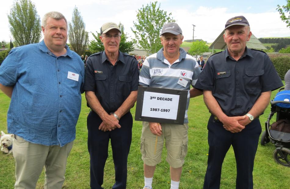Peter Irvine, of Waikouaiti, Geoff Peirce, of Millers Flat, Ross Calder, of Lovells Flat and Howard Campbell, of Ettrick.