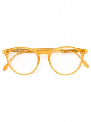 PANTOS PARIS round frame optical glasses $252 at Farfetch