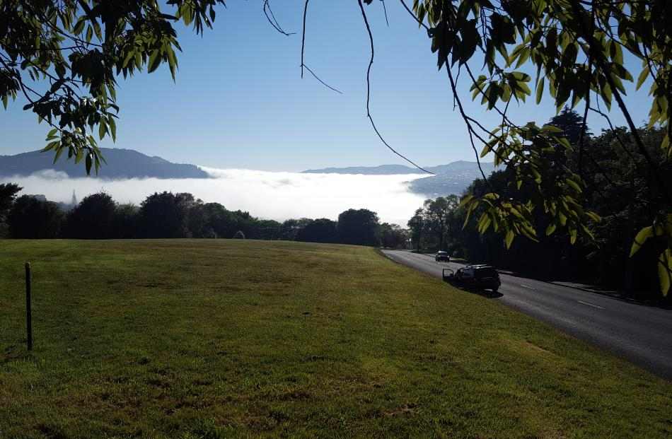 The morning fog taken from Unity Park. Photo: David Loughrey