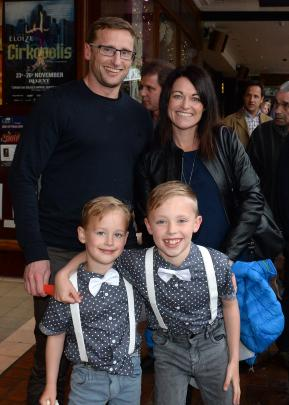 David and Charlotte Cooper, of Dunedin, with their sons Leon (5) and Finley (7).