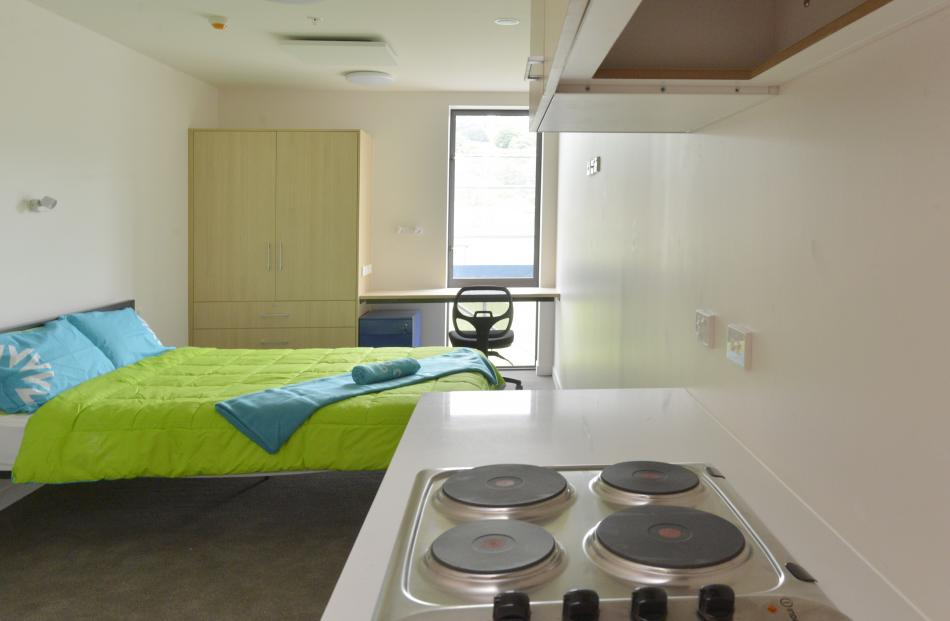 One of the deluxe studio apartments.