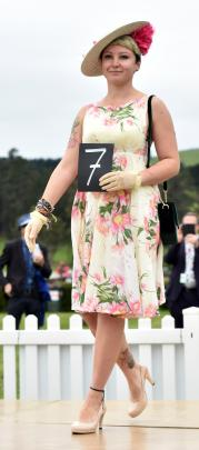 Ella Montgomery, of Dunedin, competes in the fashion event.