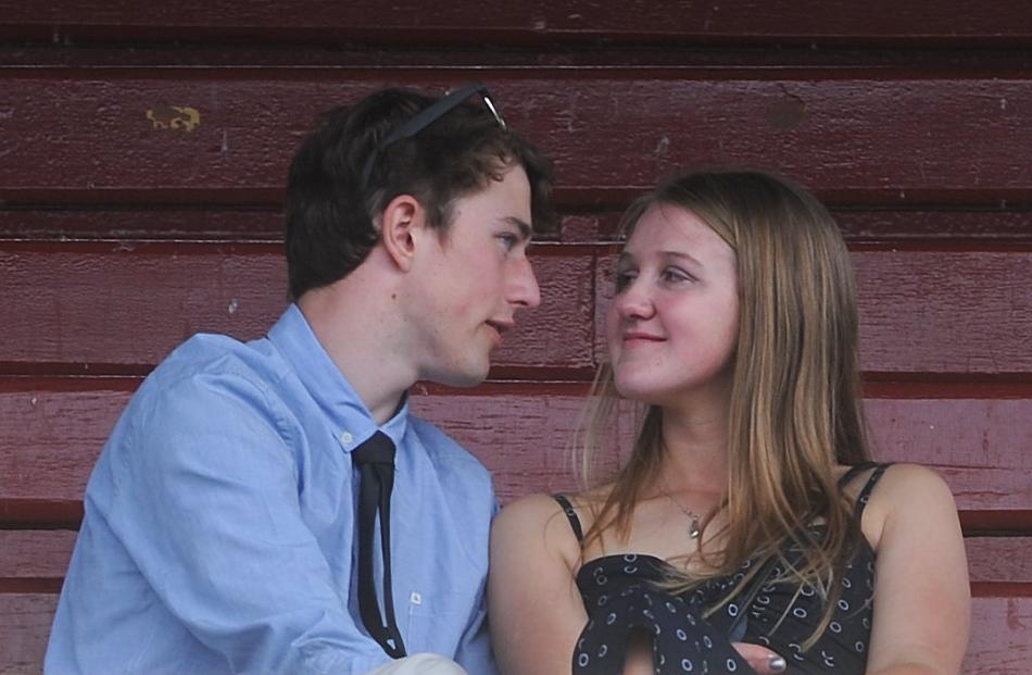 Tim Coates (18) and Jessica Coulston (17) of Mosgiel at Wingatui. Photo: Christine O'Connor