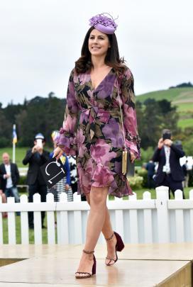 Casey McRae-Williamson, of Dunedin, competes in the Fashion in the Field event.