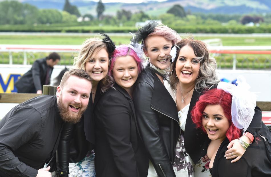 Mitch Wallace-Abernethy, Anita Van Turnhout, Kayla Herd, Georgis Coll, Mandy Van Turnhout and Ashleigh Cole.