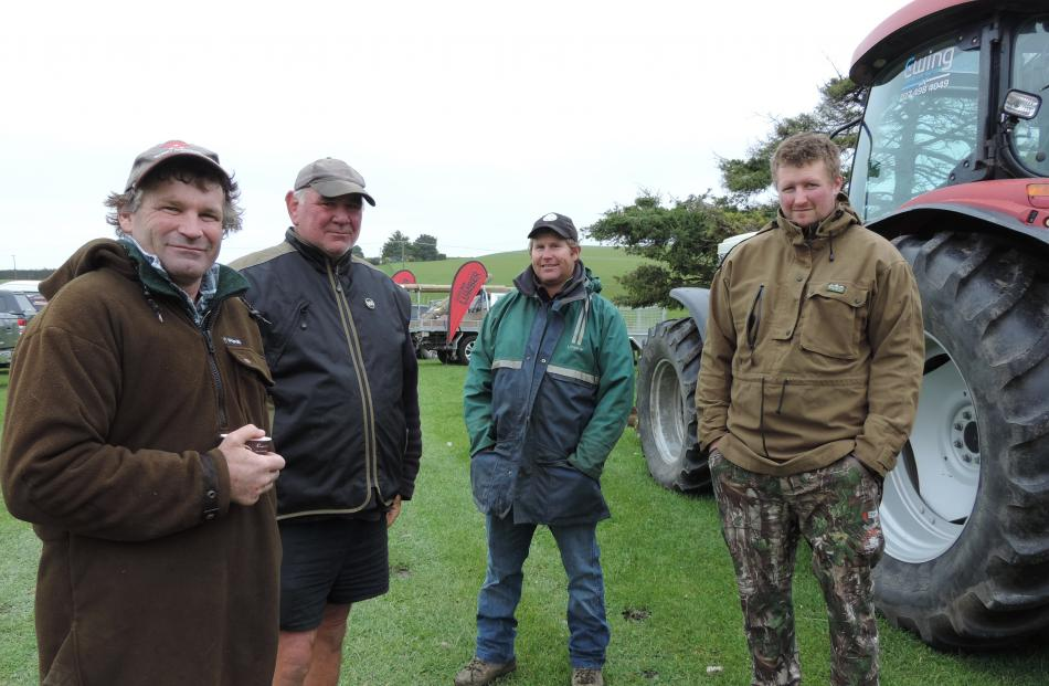 The fencing demonstration day at Weston was a chance for fencers, including (from left) Kerry Chamberlain and Andrew Couper from Glenavy and Karl Thompson and Brett Strange from Waimate, to meet up. Fencing was a ``brilliant'' career choice, Mr Thompson s