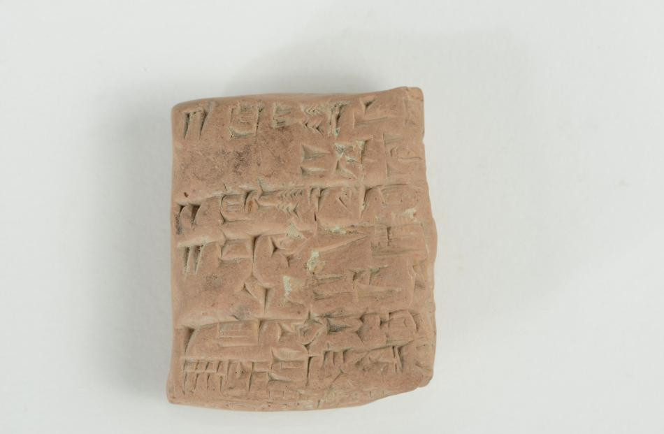 Cuneiform tablets from the Otago Museum collection.