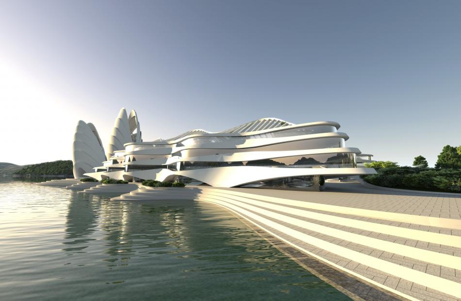 Hotel and cultural centre. Image: Animation Research