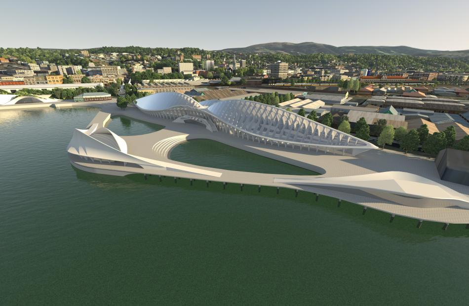 Marine research centre and possible public aquarium. Image: Animation Research