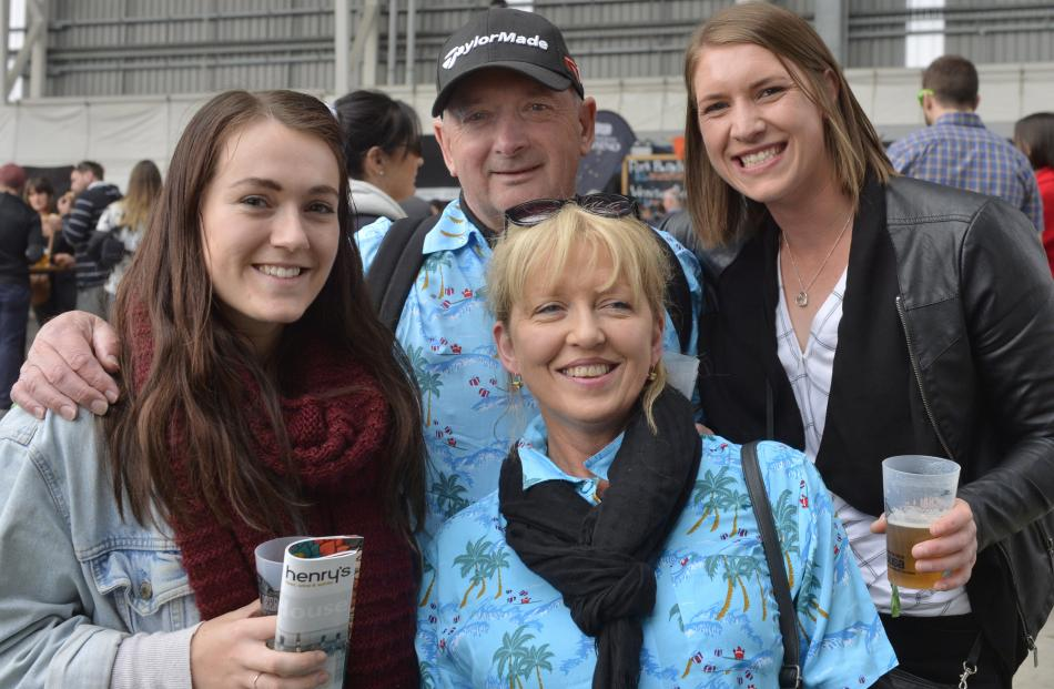 Meg Prendergast with Phil, Jessica and Desiree Grace (front), all of Invercargill.