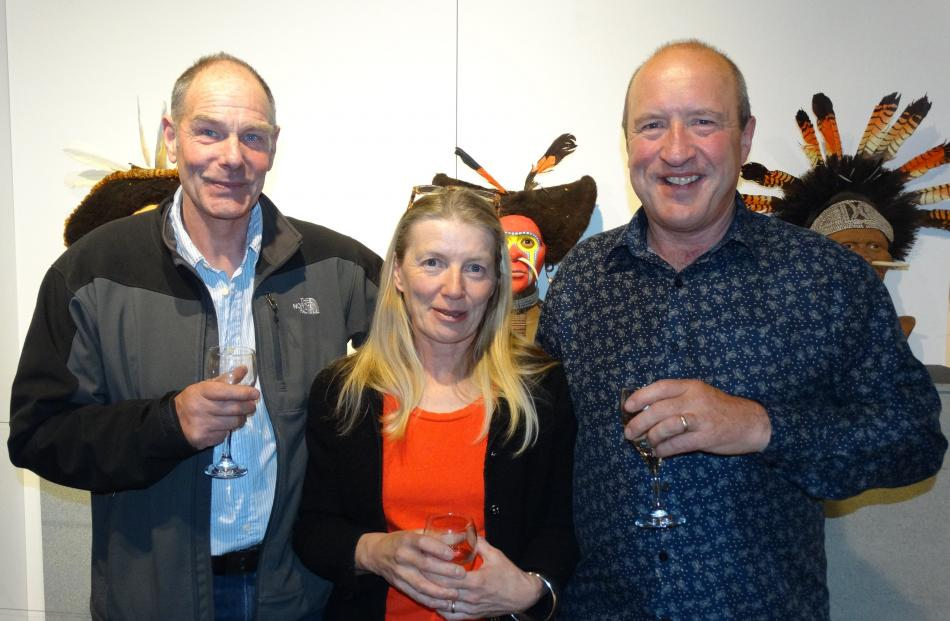 Ewen and Heather Rendel, of Closeburn and David Clarke, of Arrowtown.