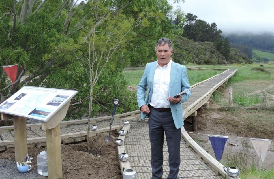 Dunedin Mayor Dave Cull speaking at the opening. Photos supplied