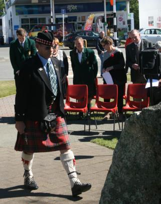 Fiordland RSA President Russell Baker at The Flagpole, Anzac Reserve to pay his respects to the...