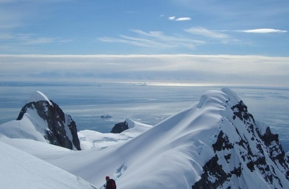 Mark Sedon on Charvez Island off the Antarctic Peninsula on a previous trip.