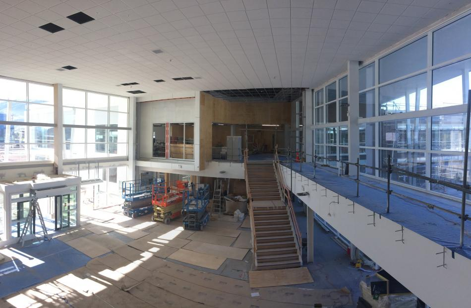 The foyer of the new campus. Photo: Hawkins Construction