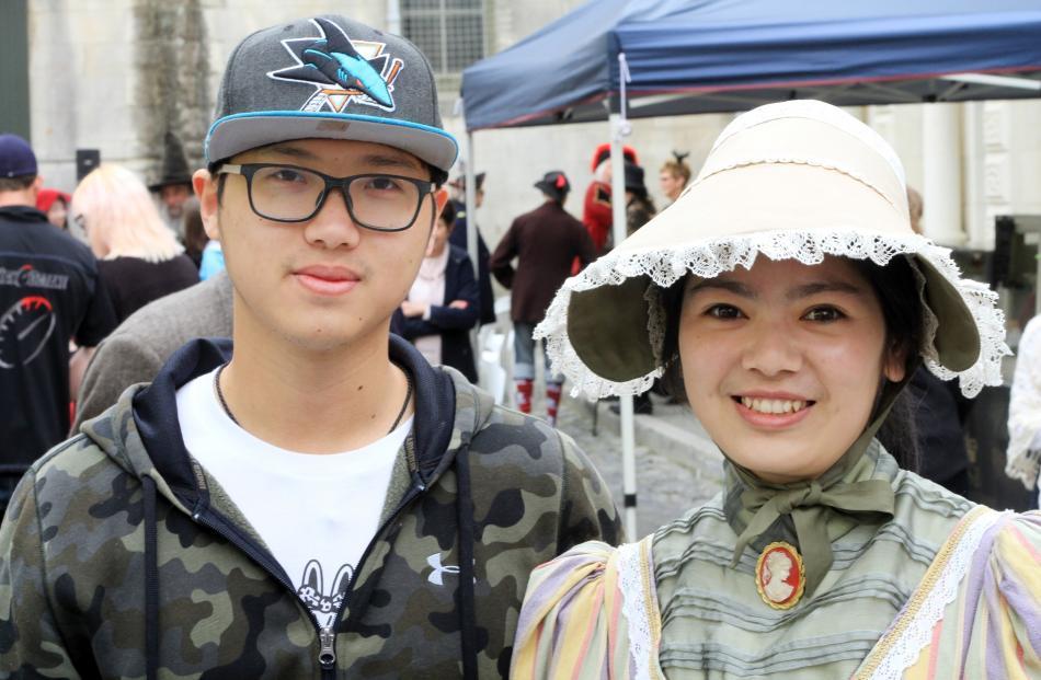 Scott Zhao and Joyce Zheng, of Christchurch.