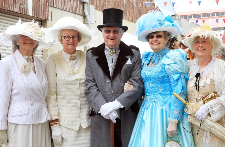 Waimate Edwardian Heritage Group members Vee McLean, Margaret Mather, both of Waimate, Noel and...