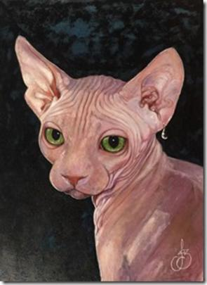 Cat with Pearl Earring, by Jasmine Middlebrook.