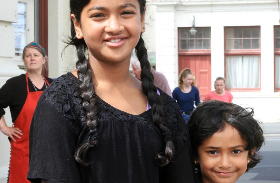 Sarah (10) and Sephrin (5) Maria, of Oamaru.