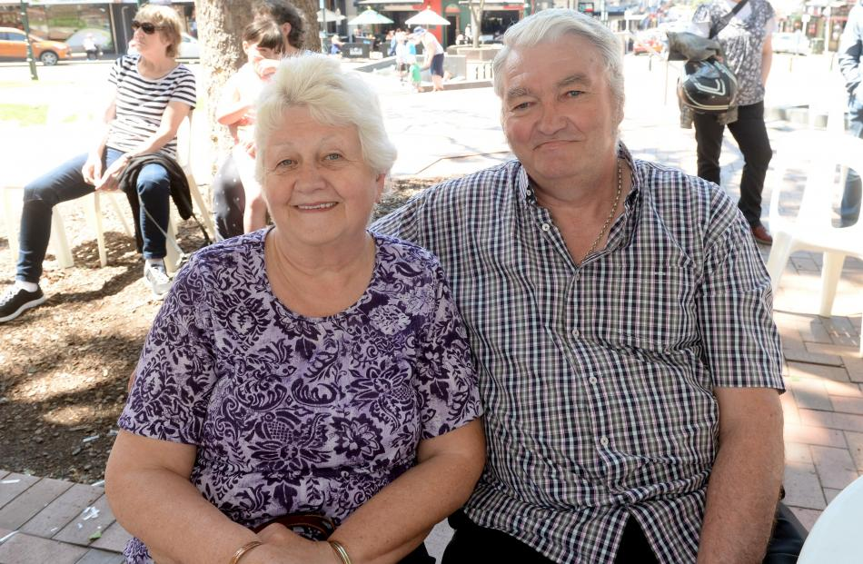 Mary and Tony Lawrence, of Waldronville.
