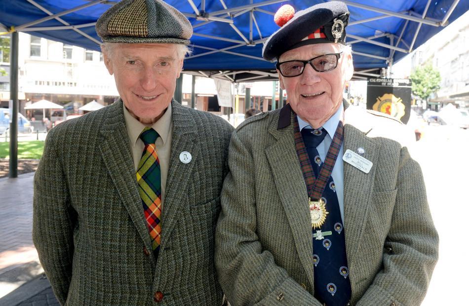 Bruce Spittle, of Dunedin, and Bill McDonald, of Milton.