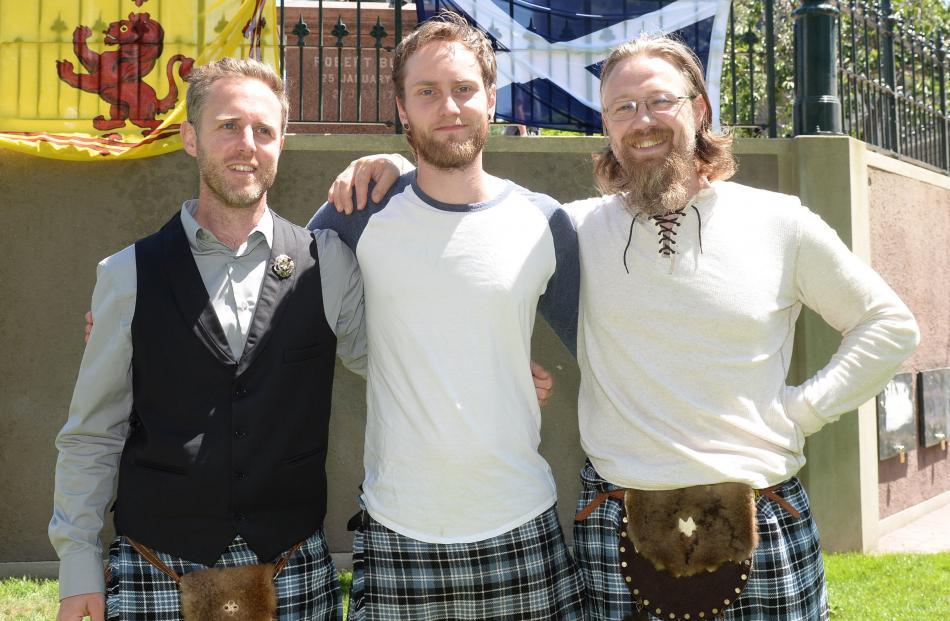 Brothers Nic Ottley, Eddie Allan and Garreth Ottley, all of Dunedin.