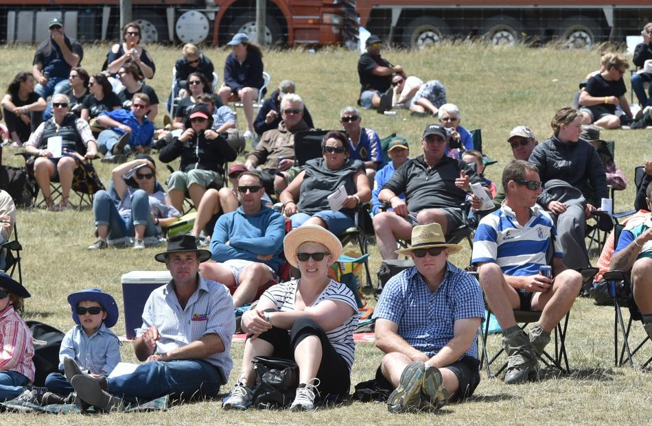 The crowd enjoy the sun at the Maniototo Rodeo last December.