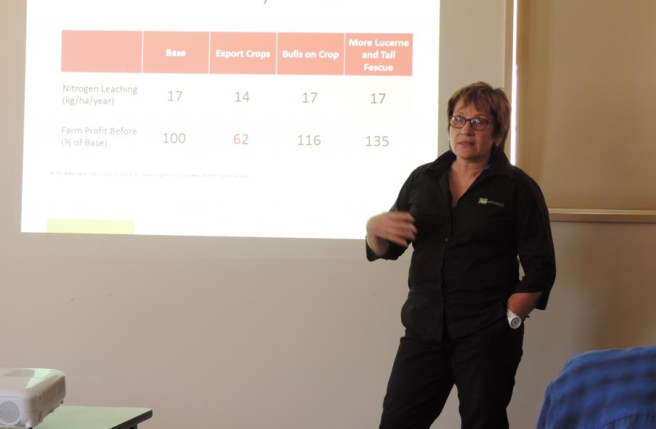 AgResearch scientist Robyn Dynes discusses technology transfer at the seminar.