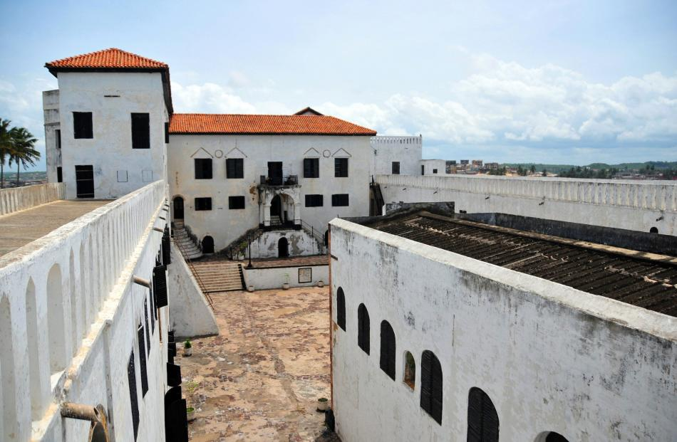 St George's Castle, at Elmina, was a major trading post  for the Atlantic slave trade.