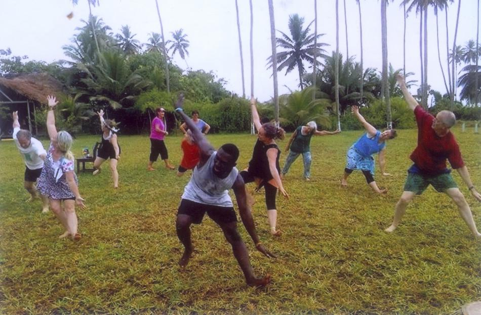 Practice started early and involved stretches and exercises that most rugby players would baulk...
