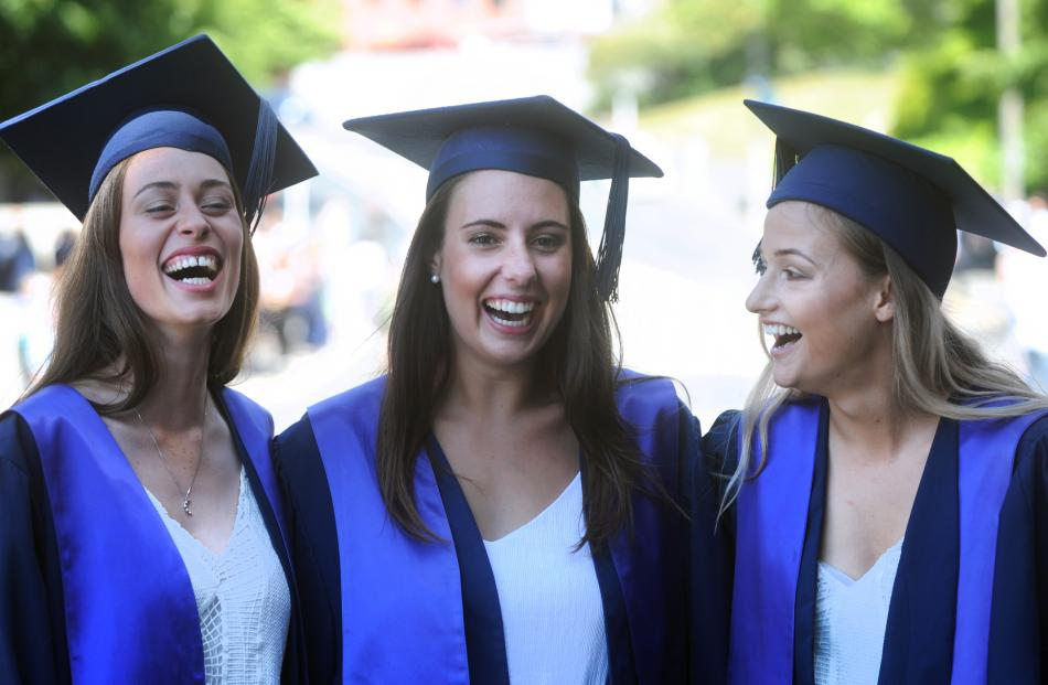 Otago Polytechnic nursing graduates (from left) Katie Millis, Olivia Macaulay and Bri Fogarty...