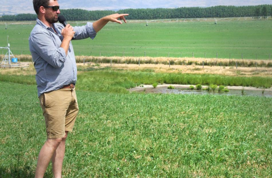 Simon Paterson points out the benefits of irrigation.
