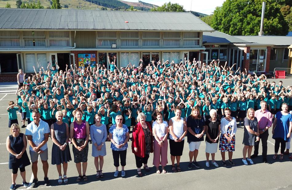 Staff and pupils at East Taieri School. Photos: Craig Baxter