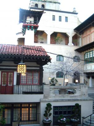 The Asian Courtyard at the Mission Inn in Riverside, California.
