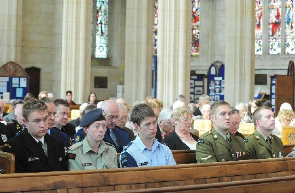 A congregation of more than 100 people were at Dunedin's Remembrance Sunday service held at St...