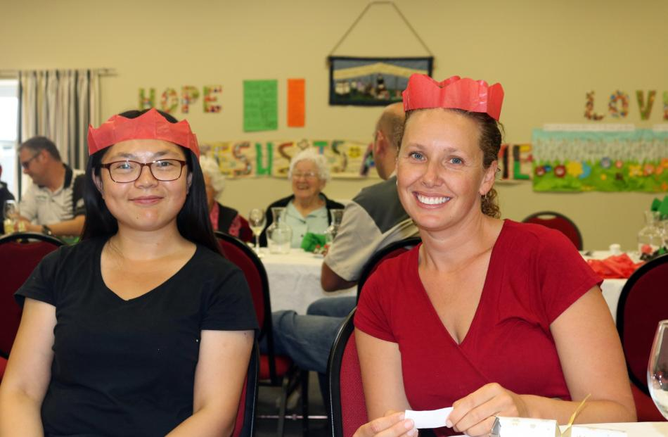 Veronica Yue, of China, and Shar Lovina, of Whangarei.