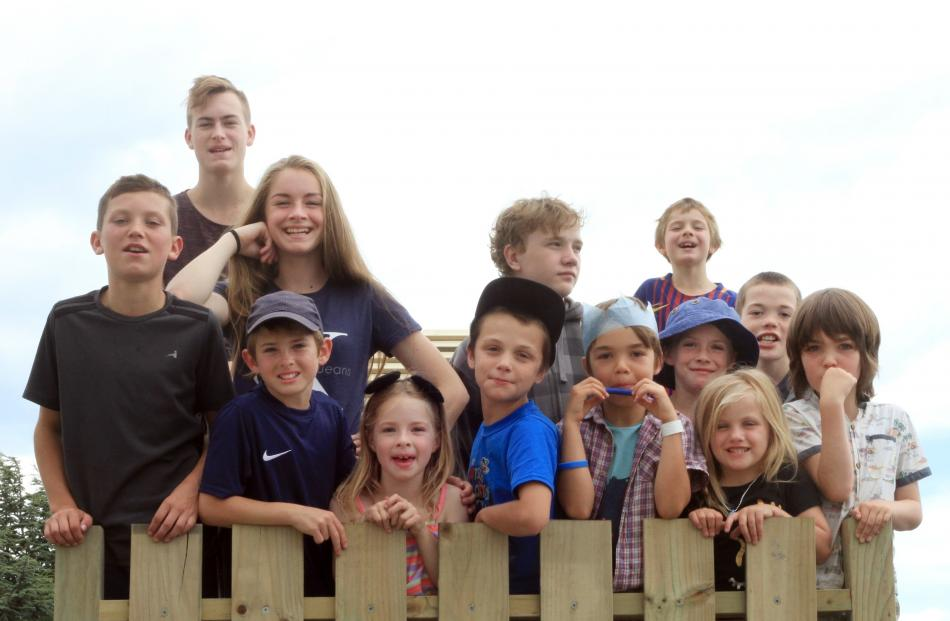Luke (12) and Josh (16) Acheson, Elizabeth (15), Luke (12) and Katherine (6) Fountaine, Lee Genet (10) and Jesse Rule (13), all of Oamaru, Senan Kiely (8), of Christchurch, Liam Fountaine (9), Jacinta Nelson (9), Lilly-Ann Nelson (5) and Reagan Rule (11),